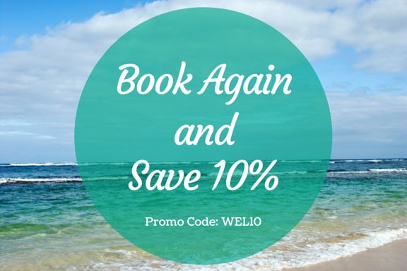 Book again and get 10% off