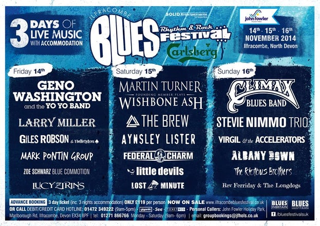 Blues, Rhythm & Rock Festival | John Fowler Weekend Breaks
