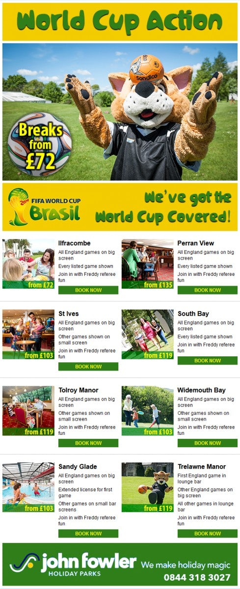 World Cup fever hits John Fowler Holidays