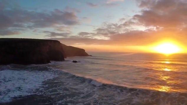 North Cornwall coastline |Drone footage