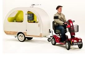 mobility scooter caravan