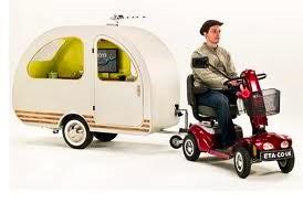 mobility scooter caravan